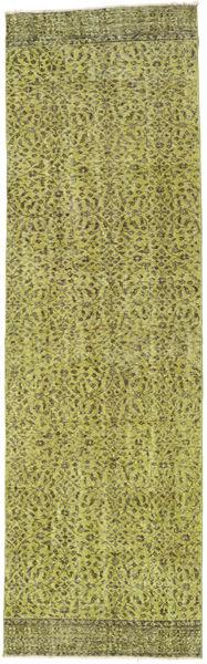 カラード ヴィンテージ 絨毯 82X278 モダン 手織り 廊下 カーペット オリーブ色/ライトグリーン (ウール, トルコ)