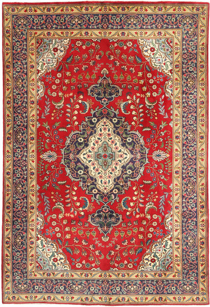 Tabriz Rug 190X287 Authentic  Oriental Handknotted Light Brown/Rust Red (Wool, Persia/Iran)