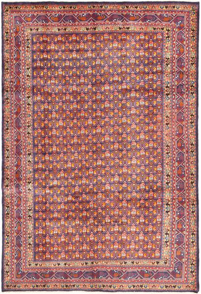 Arak Matto 204X308 Itämainen Käsinsolmittu Violetti/Vaaleanharmaa (Villa, Persia/Iran)