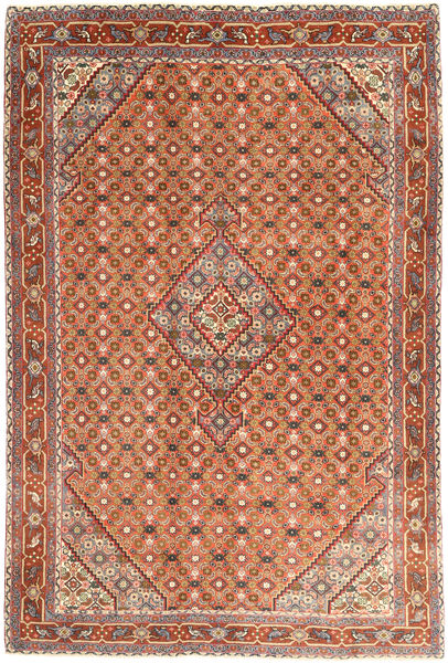 Ardebil Rug 198X285 Authentic  Oriental Handknotted Light Brown/Orange (Wool, Persia/Iran)