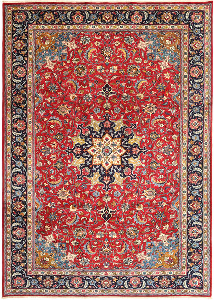Mashad Rug 243X335 Authentic  Oriental Handknotted Rust Red/Purple (Wool, Persia/Iran)