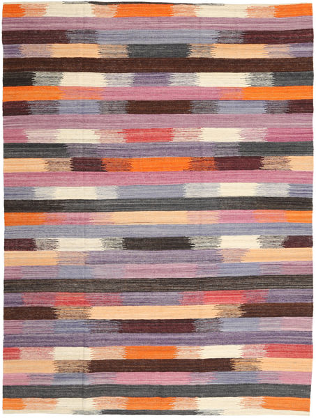 Kilim Moderni Tappeto 216X289 Moderno Tessuto A Mano Violet Clair/Marrone Scuro (Lana, India)