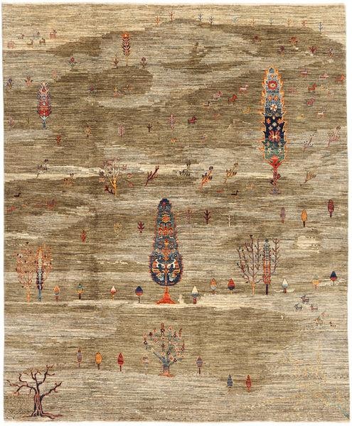 Ziegler Rug 199X239 Authentic  Oriental Handknotted Light Brown/Brown (Wool, Pakistan)