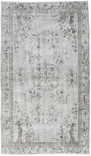 Colored Vintage Rug 113X195 Authentic  Modern Handknotted Light Grey (Wool, Turkey)