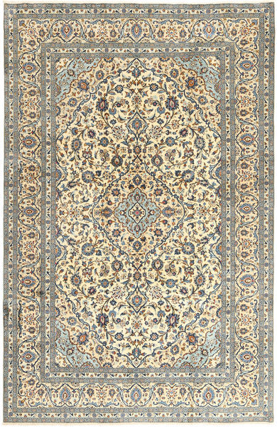 Keshan Matto 245X370 Itämainen Käsinsolmittu Beige/Vaaleanruskea/Tummanharmaa (Villa, Persia/Iran)