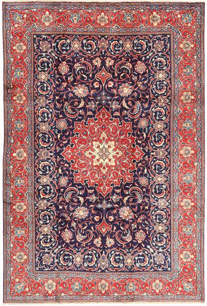Sarough Matto 210X308 Itämainen Käsinsolmittu Tummanvioletti/Vaaleanvioletti (Villa, Persia/Iran)