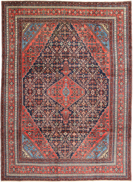 Hamadan Matto 268X370 Itämainen Käsinsolmittu Tummanruskea/Tummanpunainen Isot (Villa, Persia/Iran)