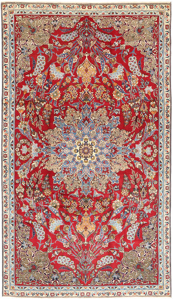 Najafabad Rug 212X368 Authentic  Oriental Handknotted Brown/Light Pink (Wool, Persia/Iran)