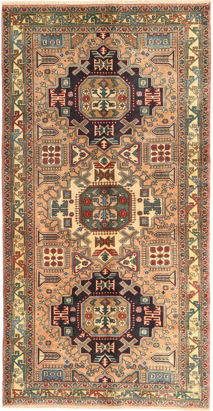 Ardebil Teppe 150X292 Ekte Orientalsk Håndknyttet Teppeløpere Brun/Lysbrun (Ull, Persia/Iran)