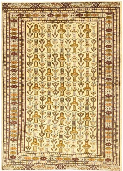 Turkaman Rug 133X185 Authentic  Oriental Handknotted Yellow/Brown/Light Brown (Wool, Persia/Iran)