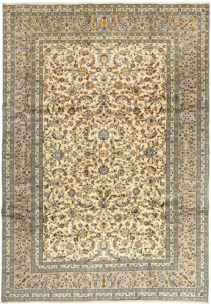 Keshan Matto 245X350 Itämainen Käsinsolmittu Vaaleanruskea/Tummanharmaa (Villa, Persia/Iran)