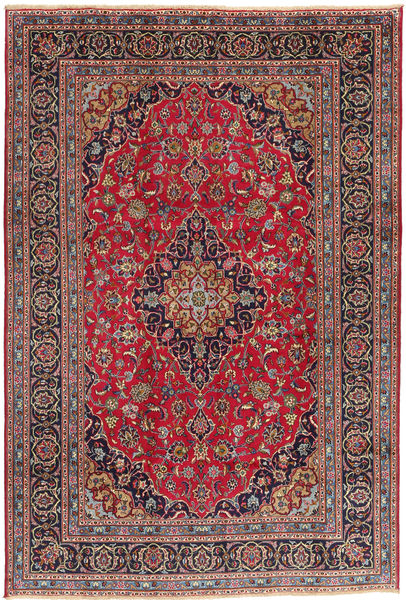 Kashmar Rug 197X290 Authentic  Oriental Handknotted Brown/Dark Brown (Wool, Persia/Iran)