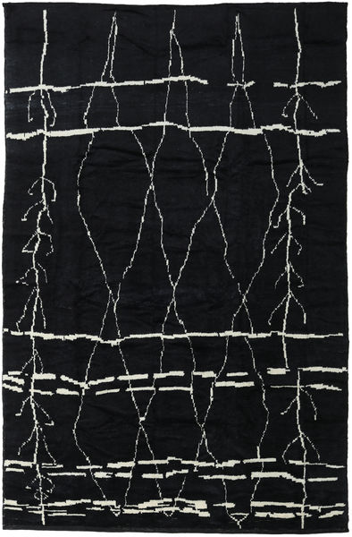 Handknotted Berber Shaggy Alfombra 271X416 Moderna Hecha A Mano Gris Oscuro Grande (Lana, Turquía)