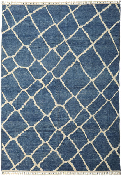 Handknotted Berber Shaggy Rug 281X401 Authentic  Modern Handknotted Blue/Dark Blue Large (Wool, Turkey)
