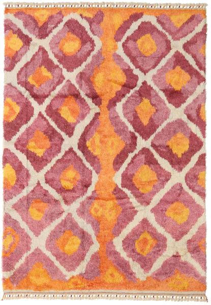Handknotted Berber シャギー 絨毯 196X281 モダン 手織り オレンジ/錆色 (ウール, トルコ)