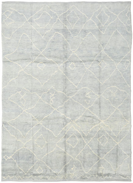Handknotted Berber Shaggy Rug 236X316 Authentic  Modern Handknotted Light Grey/Beige (Wool, Turkey)