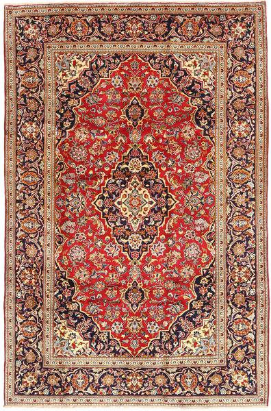 Keshan Matto 198X300 Itämainen Käsinsolmittu Tummanruskea/Tummanpunainen (Villa, Persia/Iran)
