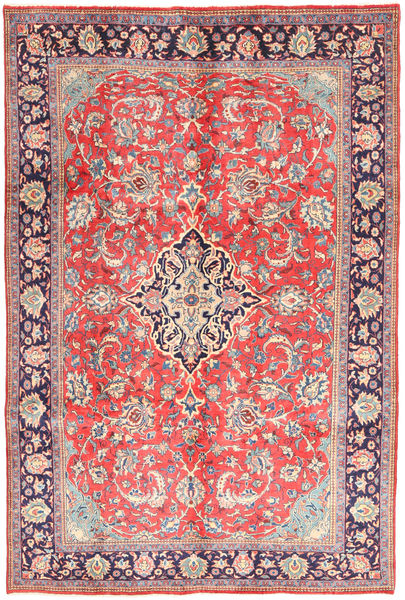Arak Matto 205X313 Itämainen Käsinsolmittu Vaaleanharmaa/Vaaleanpunainen (Villa, Persia/Iran)