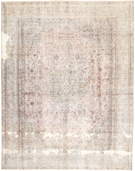 Colored Vintage Rug 280X357 Authentic  Modern Handknotted White/Creme/Light Grey Large (Wool, Persia/Iran)