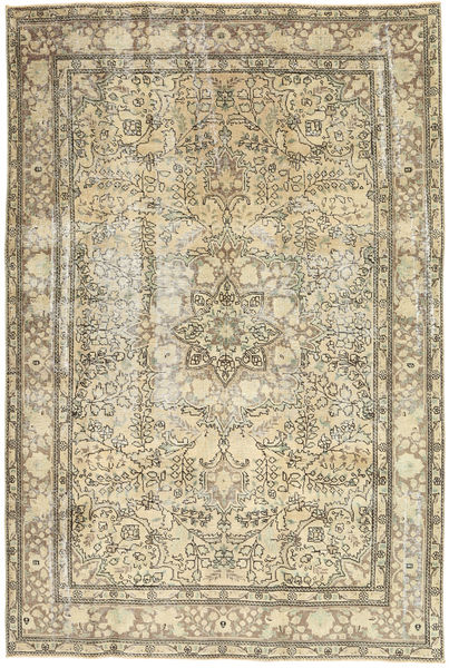 Colored Vintage Rug 192X290 Authentic  Modern Handknotted Dark Beige/Light Brown (Wool, Persia/Iran)