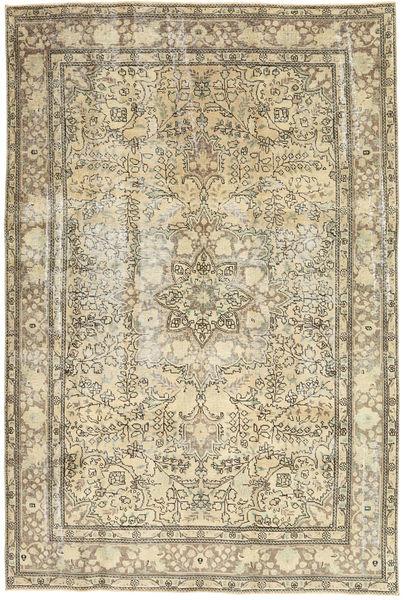 Colored Vintage Matto 192X290 Moderni Käsinsolmittu Tummanbeige/Vaaleanruskea (Villa, Persia/Iran)