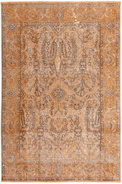 カラード ヴィンテージ 絨毯 194X296 モダン 手織り 薄茶色/ライトピンク (ウール, ペルシャ/イラン)
