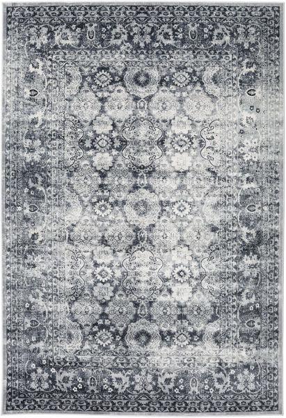 Pasha - Mörkblå/Grå Matta 160X230 Modern Ljusgrå/Mörkgrå ( Turkiet)