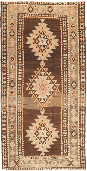 Kelim Fars Vloerkleed 175X350 Echt Oosters Handgeweven Bruin/Beige (Wol, Perzië/Iran)