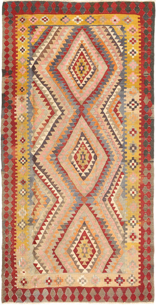 Kilim Fars Rug 167X332 Authentic  Oriental Handwoven Light Brown/Dark Beige (Wool, Persia/Iran)