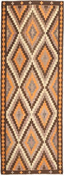 Kilim Fars Dywan 177X482 Orientalny Tkany Ręcznie Chodnik Brązowy/Jasnobrązowy (Wełna, Persja/Iran)