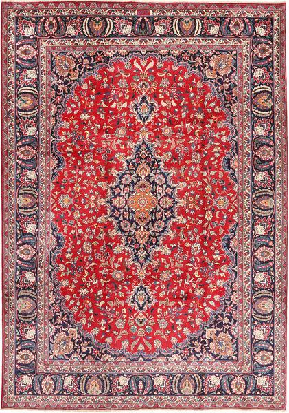 Mashad Rug 243X345 Authentic  Oriental Handknotted Purple/Crimson Red (Wool, Persia/Iran)
