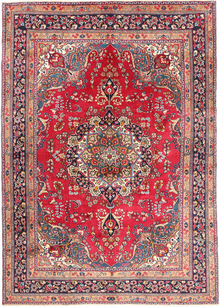 Mashad Rug 245X337 Authentic  Oriental Handknotted Brown/Rust Red (Wool, Persia/Iran)