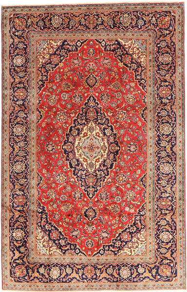 Keshan Matto 200X312 Itämainen Käsinsolmittu Tummanpunainen/Ruoste (Villa, Persia/Iran)