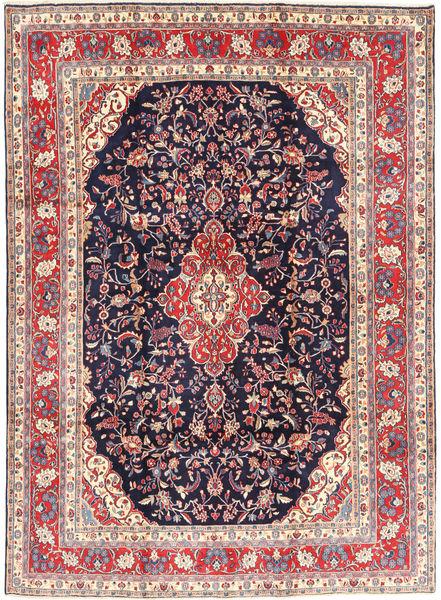 Hamadan#Shahrbaf Matta 222X305 Äkta Orientalisk Handknuten Ljusgrå/Mörklila (Ull, Persien/Iran)