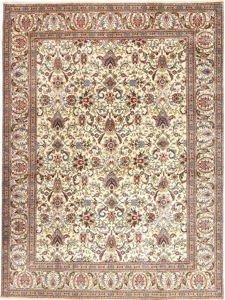 Tabriz Matto 300X400 Itämainen Käsinsolmittu Beige/Vaaleanruskea Isot (Villa, Persia/Iran)