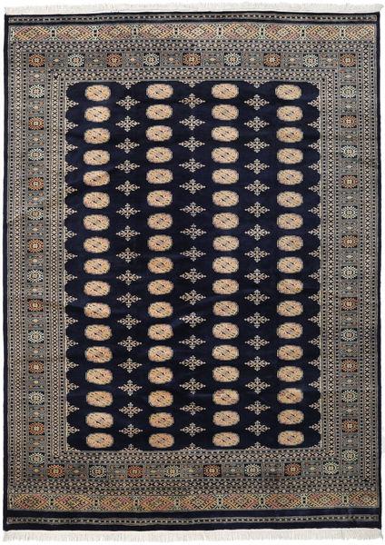 Pakistan Bokhara 2Ply Matta 219X302 Äkta Orientalisk Handknuten Mörklila/Mörkgrå (Ull, Pakistan)