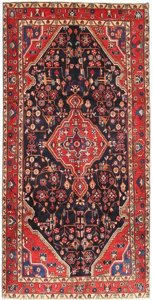Hamadan Χαλι 160X312 Ανατολής Χειροποιητο Χαλι Διαδρομοσ Σκούρο Κόκκινο/Σκούρο Μπλε (Μαλλί, Περσικά/Ιρανικά)
