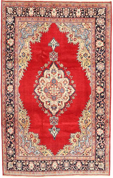 Arak Tapis 206X318 D'orient Fait Main Rouge/Rose Clair (Laine, Perse/Iran)