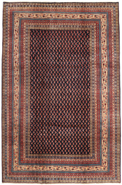 Sarouk Mir Rug 212X323 Authentic  Oriental Handknotted Brown/Dark Green (Wool, Persia/Iran)