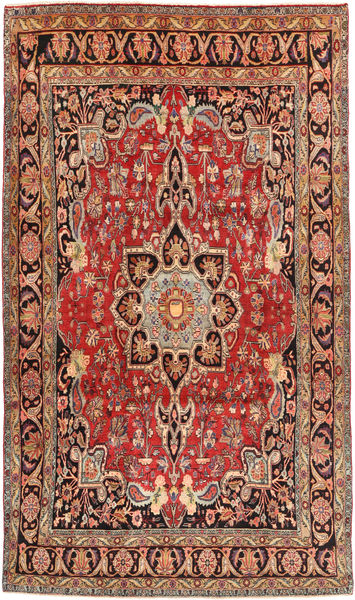 Bidjar Rug 198X342 Authentic  Oriental Handknotted Dark Red/Brown (Wool, Persia/Iran)