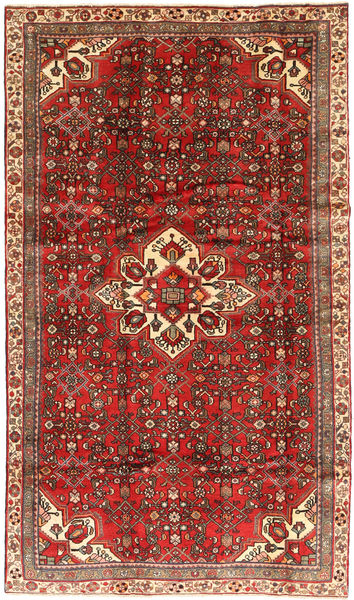 Hosseinabad Rug 170X297 Authentic  Oriental Handknotted Dark Red/Light Brown (Wool, Persia/Iran)