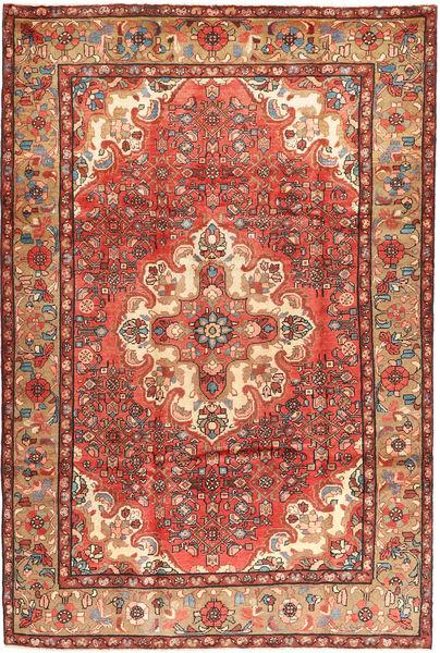 Hosseinabad Tapis 210X315 D'orient Fait Main Rouille/Rouge/Marron Foncé (Laine, Perse/Iran)