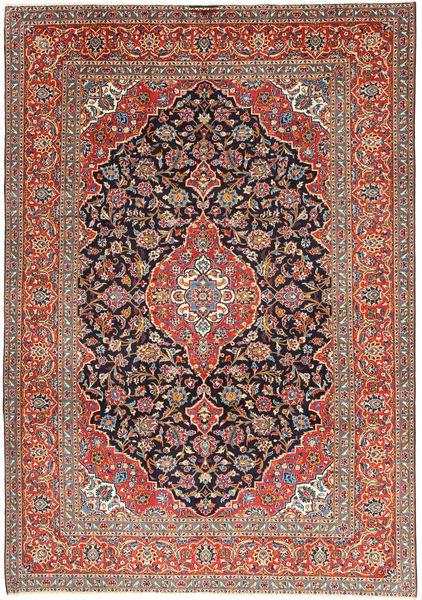 Keshan Alfombra 238X338 Oriental Hecha A Mano Gris Claro/Rojo Oscuro (Lana, Persia/Irán)