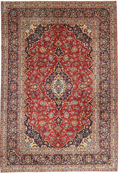 Keshan Matta 252X368 Äkta Orientalisk Handknuten Mörkröd/Mörklila Stor (Ull, Persien/Iran)