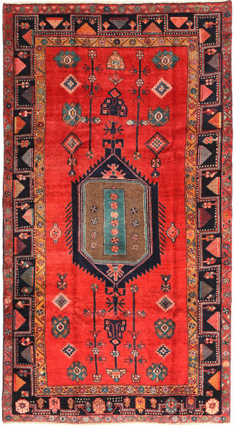 Lori Rug 165X305 Authentic  Oriental Handknotted Dark Red/Crimson Red (Wool, Persia/Iran)