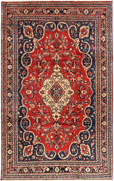Hamadan Rug 228X355 Authentic  Oriental Handknotted Rust Red/Black (Wool, Persia/Iran)