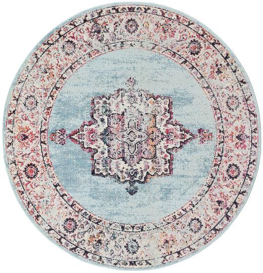 Tella Tapis Ø 200 Moderne Rond Gris Clair/Violet Clair ( Turquie)