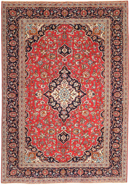 Keshan Patina Rug 247X350 Authentic  Oriental Handknotted Brown/Dark Red (Wool, Persia/Iran)