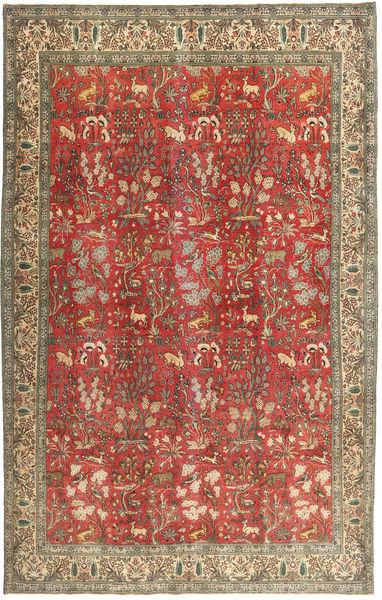 Tabriz Patina Alfombra 225X350 Oriental Hecha A Mano Marrón Claro/Rojo Oscuro (Lana, Persia/Irán)