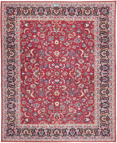 Tabriz Patina Matto 305X390 Itämainen Käsinsolmittu Punainen/Tummanharmaa Isot (Villa, Persia/Iran)